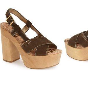 Sam Edelman Mae platform sandal heel 6M